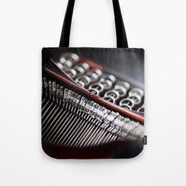 Typewriter Angled Tote Bag