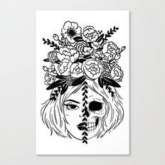 Girl/Skull Canvas Print