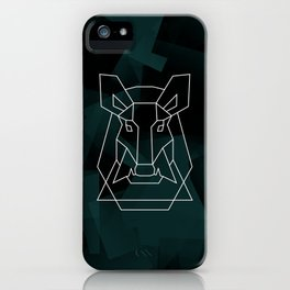 Insatiable wild boar iPhone Case