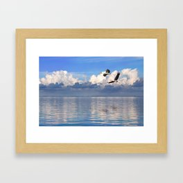 On The Wings Of The Wind Framed Art Print