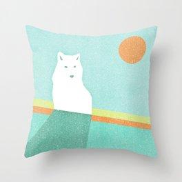 Polar sun Throw Pillow