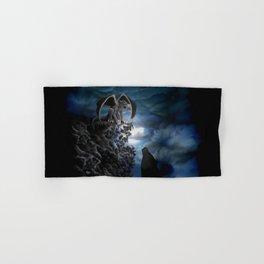 Wolfmoon , Wolf with Golem Hand & Bath Towel