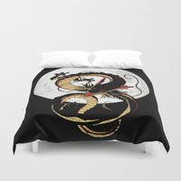 dragon ball Duvet Covers featuring Black Dragon by TxzDesign