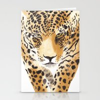 leopard Stationery Cards featuring Leopard by THE AESTATE