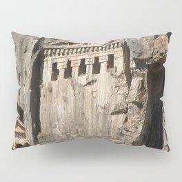 Lycian Tombs Cut From Rock Circa 400 BC Pillow Sham
