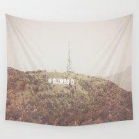 hollywood Wall Tapestries featuring Hollywood by Daniella Gallistl