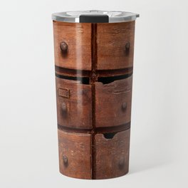 Wooden cabinet with drawers Travel Mug
