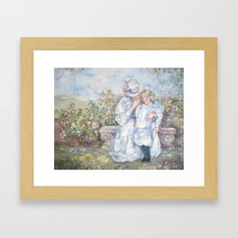 Mother and Daughter Framed Art Print