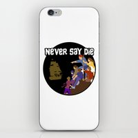 goonies iPhone & iPod Skins featuring Goonies Never Say Die by Darth Paul