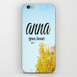 Anna Grace iPhone Skin