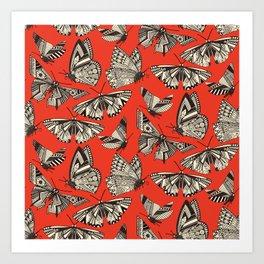 summer butterflies fire Art Print
