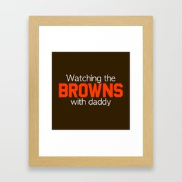 Watching the Browns with Daddy Framed Art Print