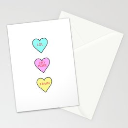Conversation Hearts Stationery Cards