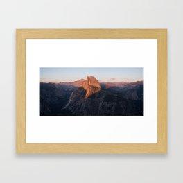 Glacier Point Sunset Framed Art Print