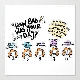Bad Day Canvas Print