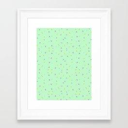 MINT FLORAL Framed Art Print