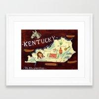 kentucky Framed Art Prints featuring Kentucky by Christiane Engel