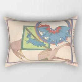 Tarot card The Chariot-Le Chariot Rectangular Pillow
