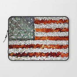 American Flag Abstract Laptop Sleeve