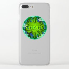 Mom Tattoo Retro Floral Print Clear iPhone Case