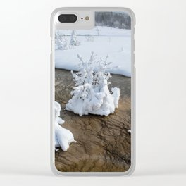 Winter in Yellowstone Clear iPhone Case