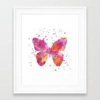 artsy Framed Art Prints featuring Artsy Butterfly by LebensART