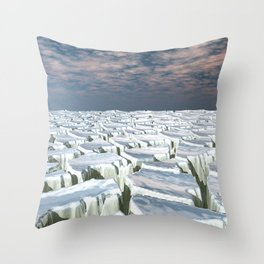 Fragmented Landscape Throw Pillow