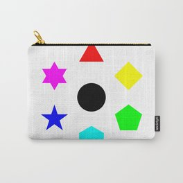 Seven Deadly Shapes Color Carry-All Pouch