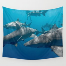 Lemon Shark School Wall Tapestry