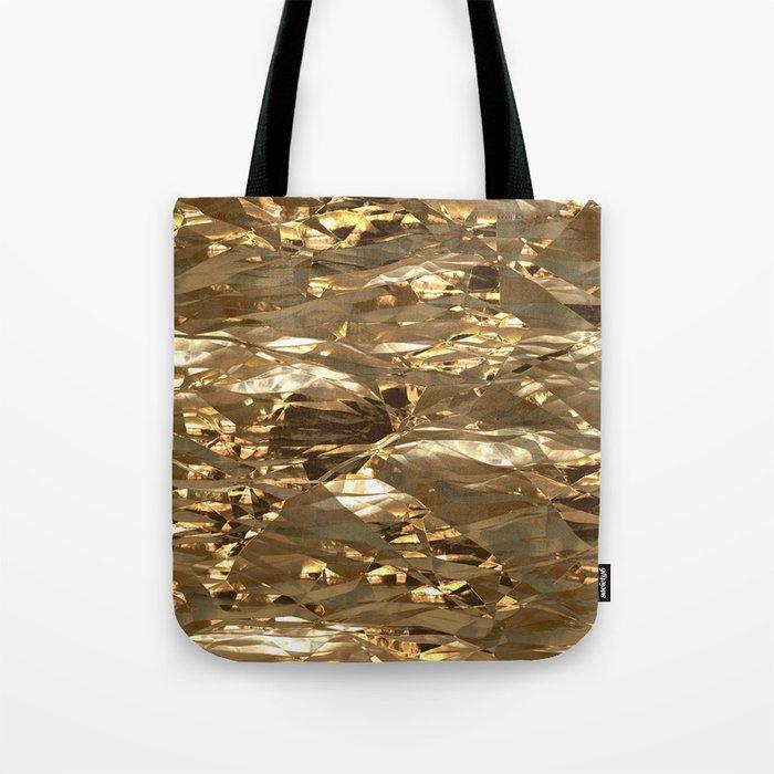 Gold Metal Tote Bag