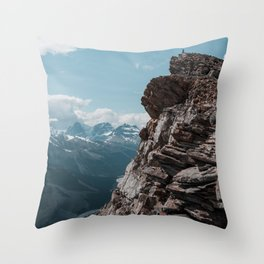 Rugged and Slanted Peak Throw Pillow