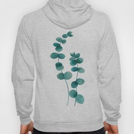 green eucalyptus watercolor Hoody