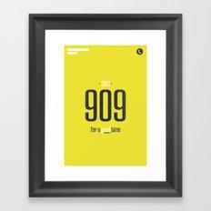Call 909 Framed Art Print