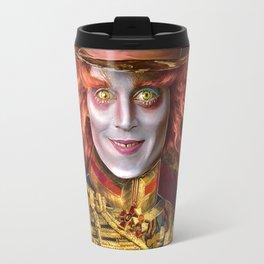Mad Hatter General Portrait Painting Fan Art Travel Mug