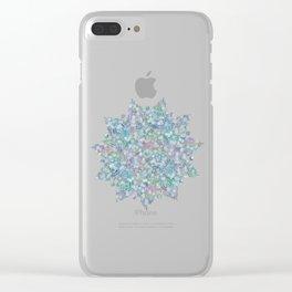 Mermaid Dreams Mandala on White Clear iPhone Case