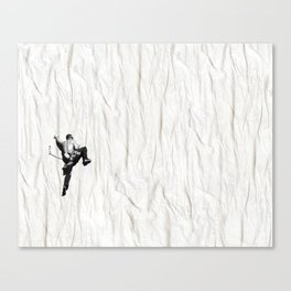 Climbing a Wrinkle Canvas Print
