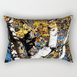 Autumn Leaves Aspen Forest Scene Grand Canyon North Rim Rectangular Pillow