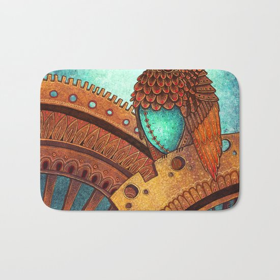 Clockwork Hummingbird Bath Mat