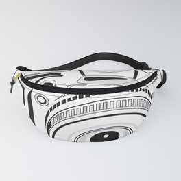 Black and White Camera Fanny Pack