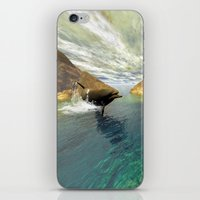 dolphins iPhone & iPod Skins featuring Dolphins by nicky2342