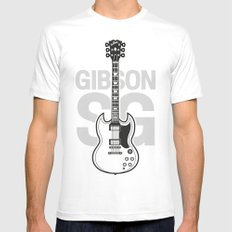 Gibson SG MEDIUM White Mens Fitted Tee