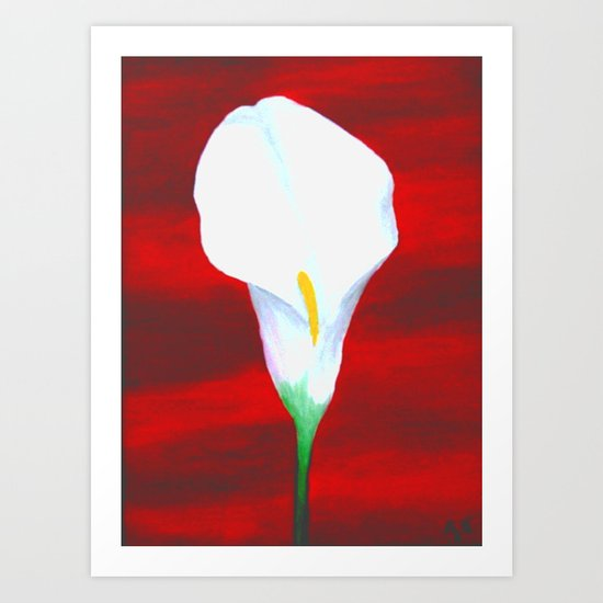 Cala Lily with a Red Sea Art Print