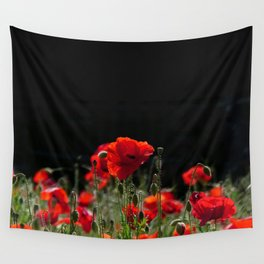 Red Poppies in bright sunlight Wall Tapestry