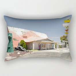 Kozy Corner Route 66 photograph Rectangular Pillow