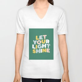 Let Your Light Shine Unisex V-Neck