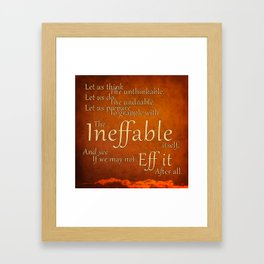 Douglas Adams Framed Art Print