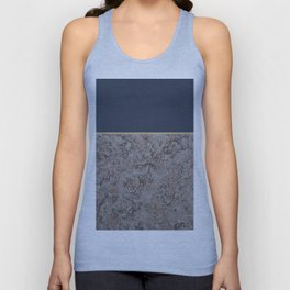 Blue Meets Brown Gray Concrete #1 #decor #art #society6 Unisex Tank Top