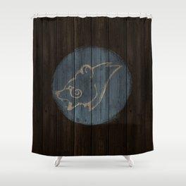 Bear Shield Shower Curtain