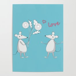 two enamored mouses Poster