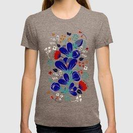 Folk Spring Flowers blooms T-shirt
